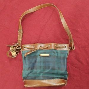 Ralph Lauren leather drawstring bag